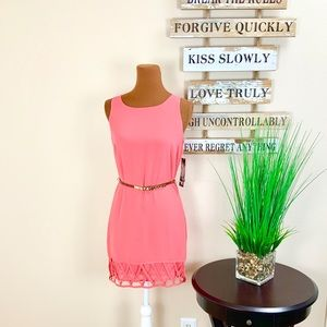 NWT. SEQUIN HEARTS   Coral Tank Dress